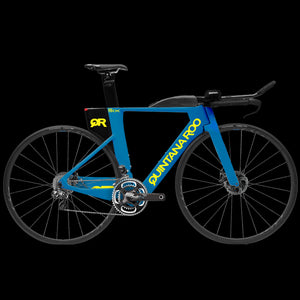 QuintanaRoo PRSix Disc - Matte Blue/ Neon Yellow (Frame, Fork, Seatpost ONLY)