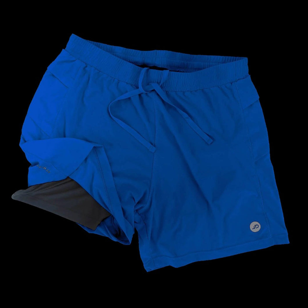 Athlos Mens Distance Shorts Egyptian Blue