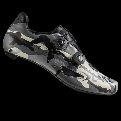 Lake CX237 Wide Silver Camo Carbon Sole Cycling Shoes
