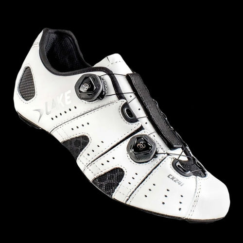 Lake CX-241 Wide White Carbon Sole Cycling Shoes