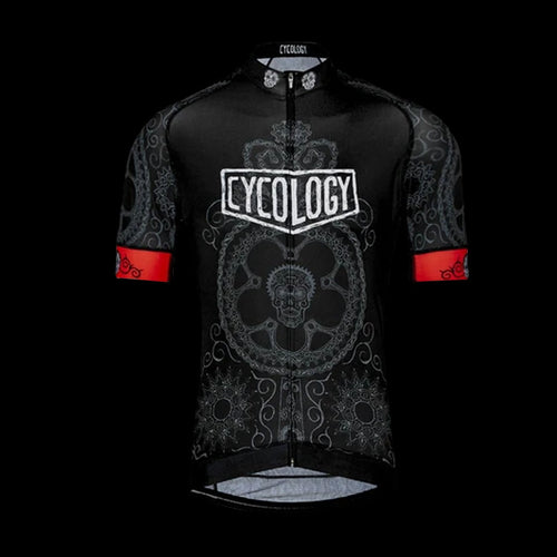 Cycology Day Of The Living (Black) Men's Jersey - Best Cycling Jersey In India