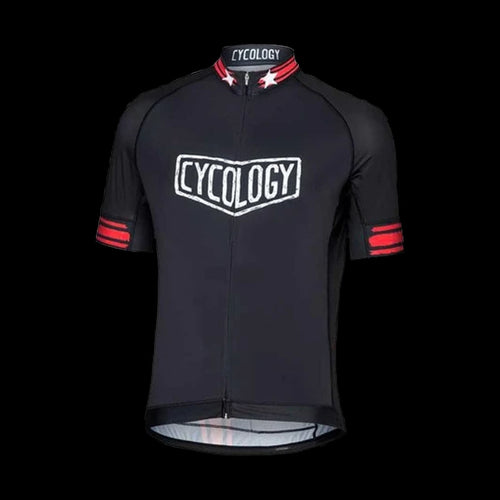 Cycology Train Hard Get Lucky (Black) Men's Jersey - Best Cycling Jersey India