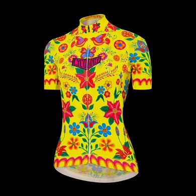 Cycology Frida (Yellow) Women's Jersey - Best Cycling Jersey In India