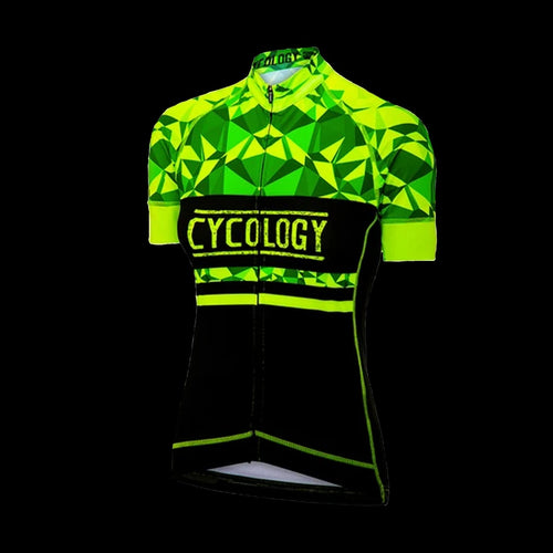 Cycology Geometric (Lime) Women's Jersey -Best Cycling Jersey In India