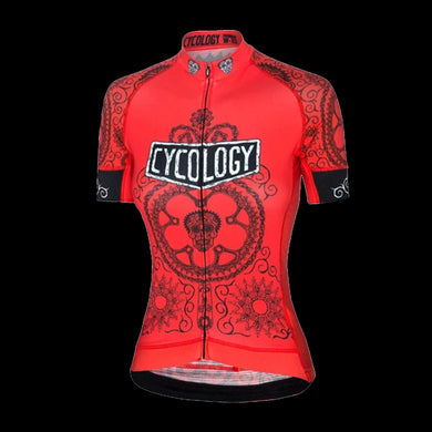 Cycology Day Of The Living (Red) Women's Jersey - Best Cycling Jersey In India