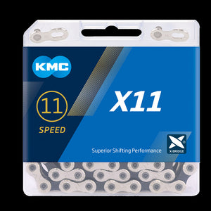 KMC X Series 11 Speed Chain - Colour Silver Black