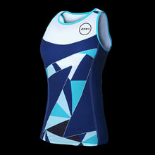 Load image into Gallery viewer, Zone3 Women's Lava Long Distance Tri Top- Navy White Teal