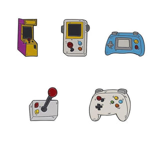 Retro Games Enamel Pins - patasys