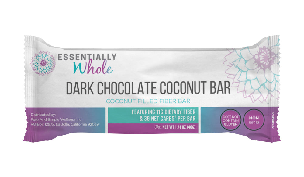 Dark Chocolate Coconut Bar (pack of 18) Limited-Time offer