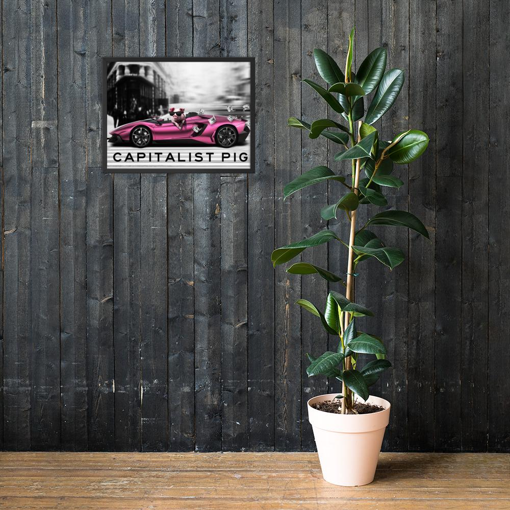 "Framed Poster ""Capitalist"" Black18×24 - Mperior: The Store For Entrepreneurs, Hustlers and Achievers"