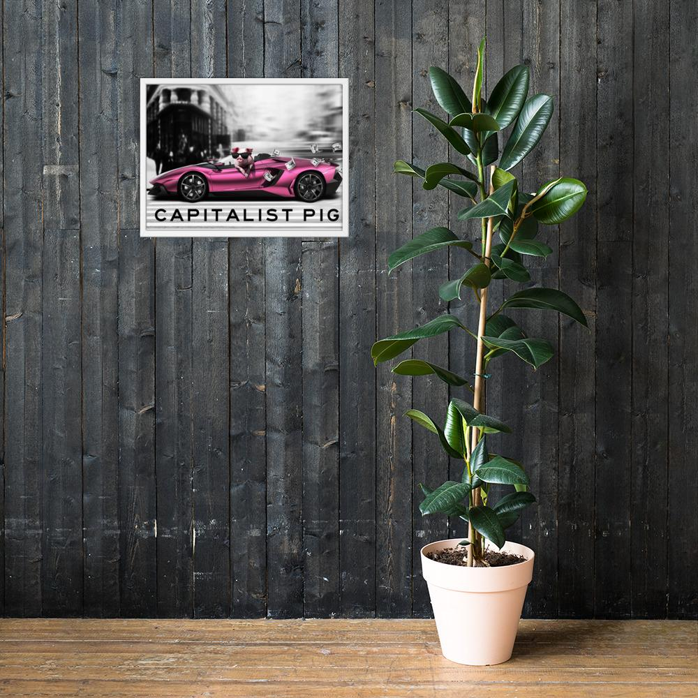 "Framed Poster ""Capitalist"" White18×24 - Mperior: The Store For Entrepreneurs, Hustlers and Achievers"