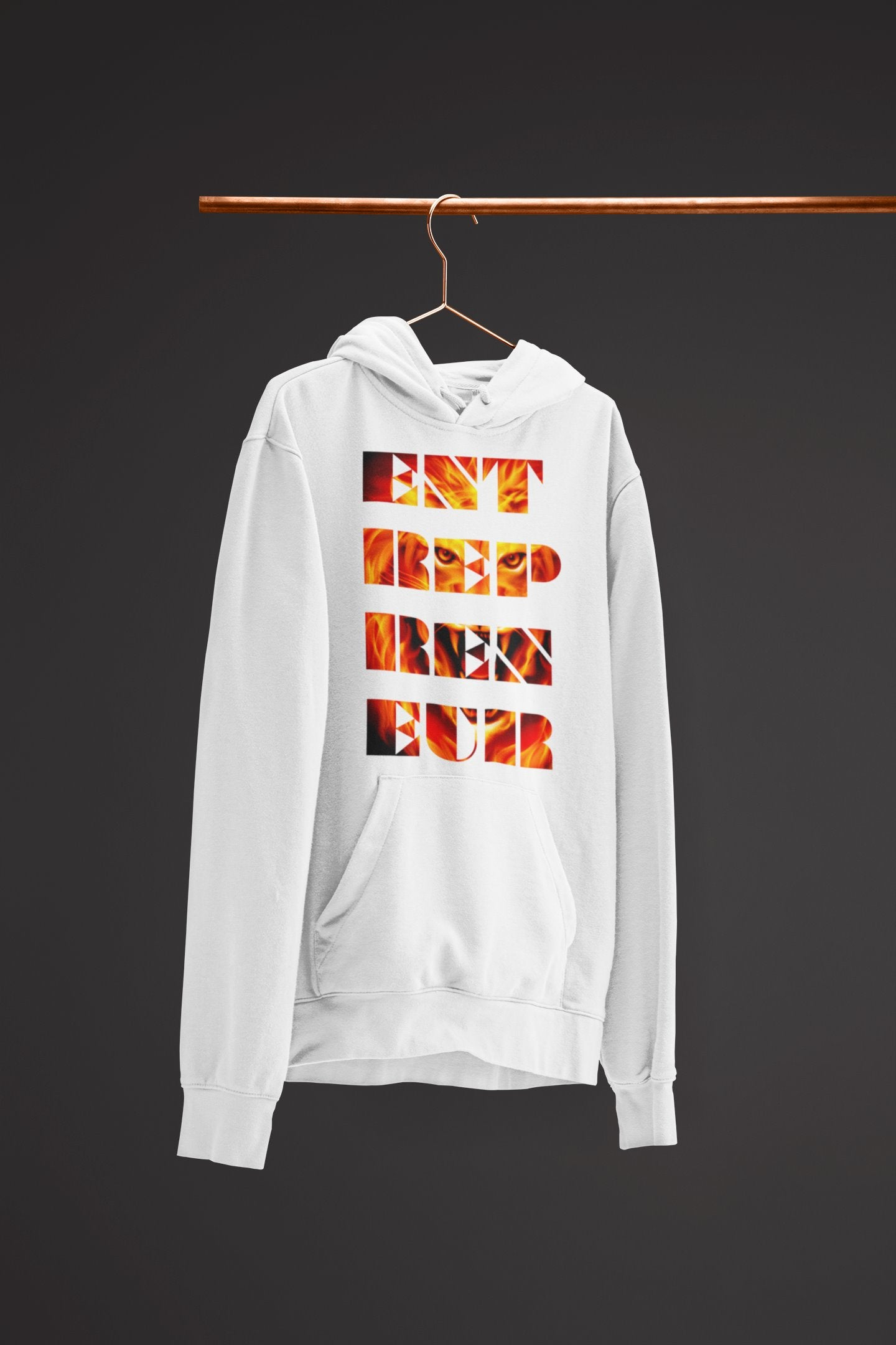 "Mens Hoodie ""Entrepreneur"" WhiteS - Mperior: The Store For Entrepreneurs, Hustlers and Achievers"