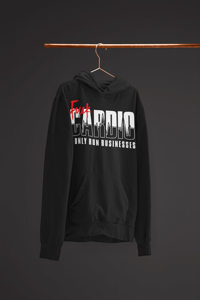 "Mens Hoodie ""F*ck Cardio"" BlackS - Mperior: The Store For Entrepreneurs, Hustlers and Achievers"
