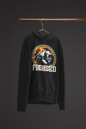 "Mens Hoodie ""Focused"" BlackS - Mperior: The Store For Entrepreneurs, Hustlers and Achievers"