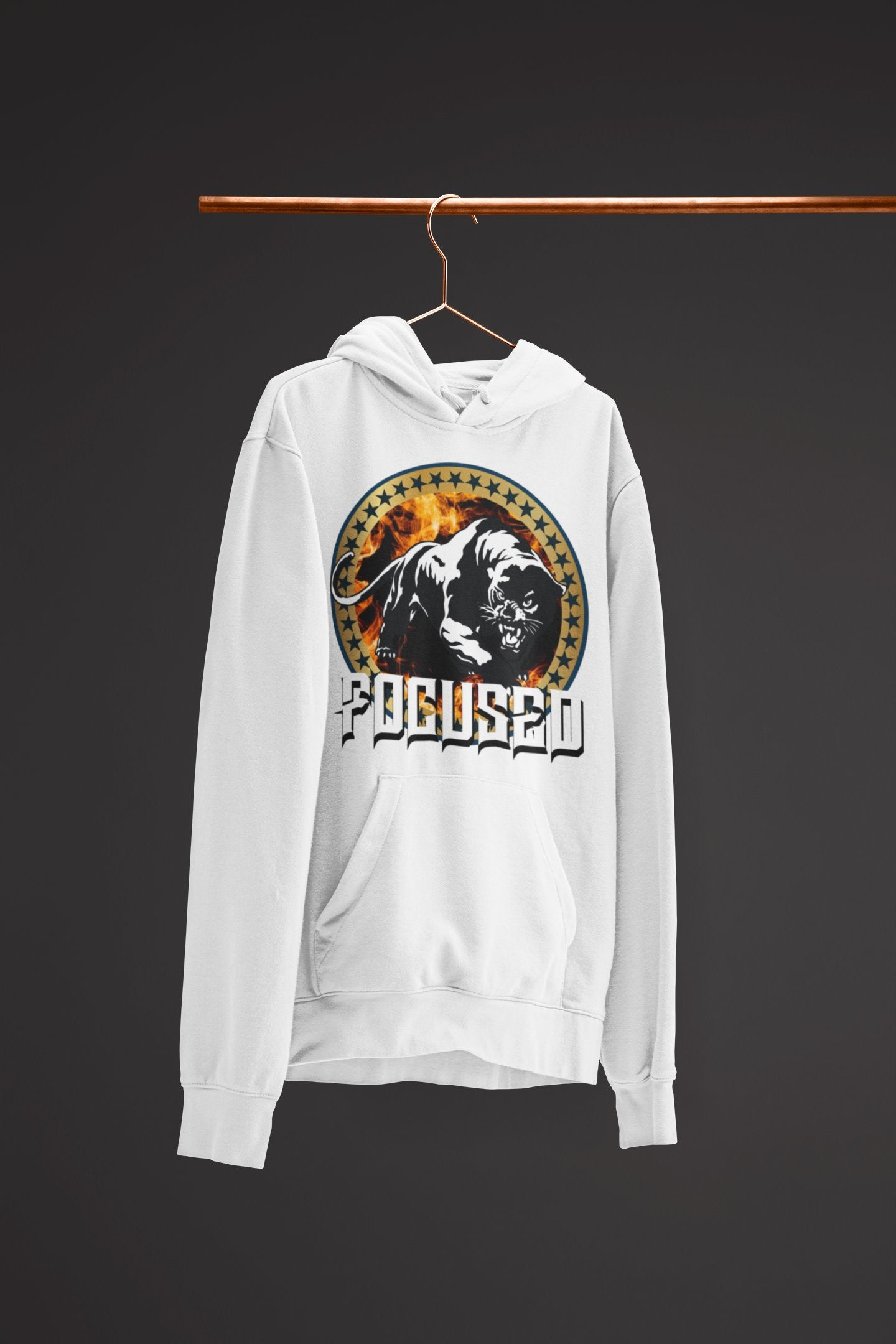 "Mens Hoodie ""Focused"" WhiteS - Mperior: The Store For Entrepreneurs, Hustlers and Achievers"