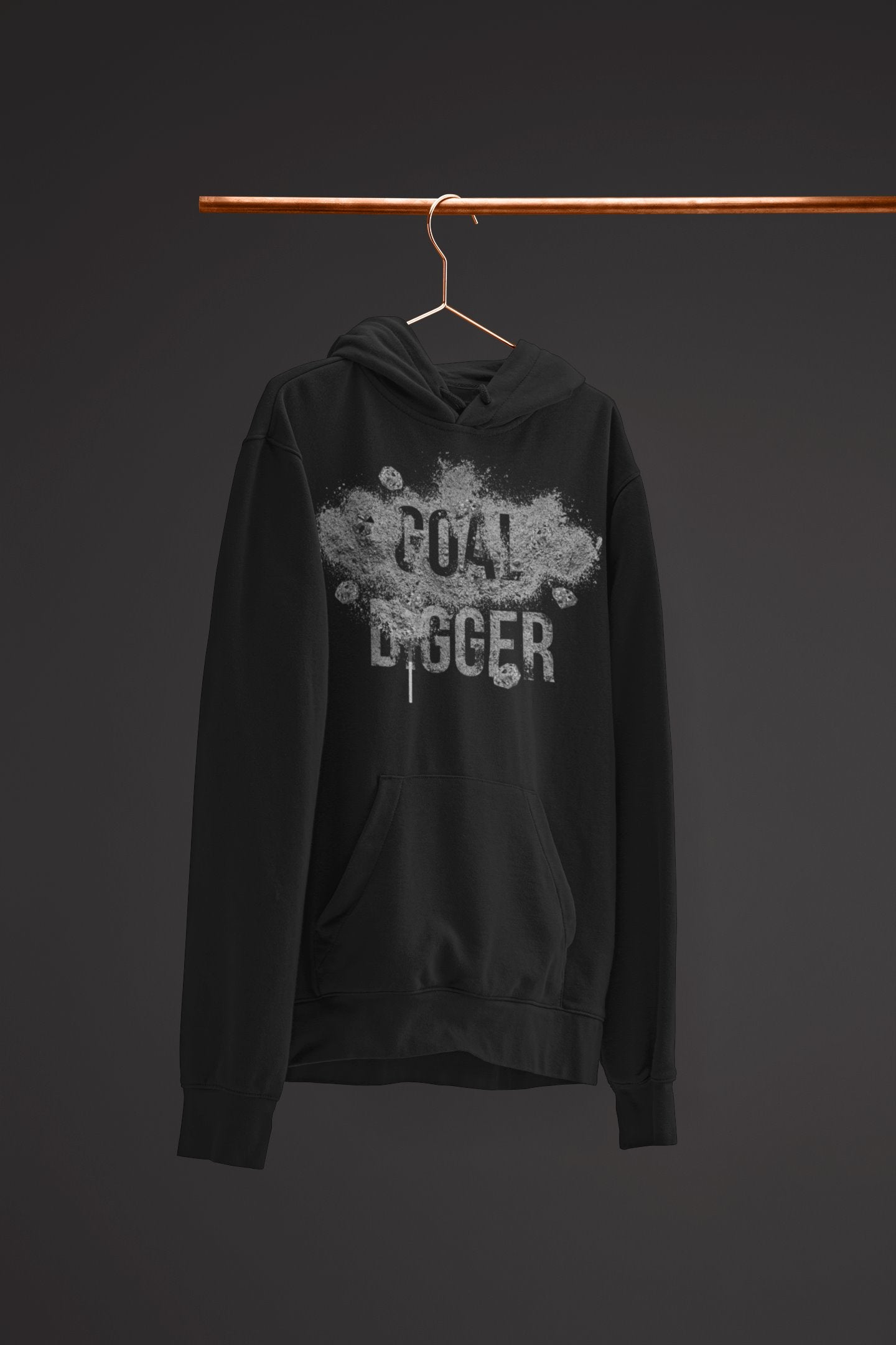 "Mens Hoodie ""GoalDigger"" BlackS - Mperior: The Store For Entrepreneurs, Hustlers and Achievers"