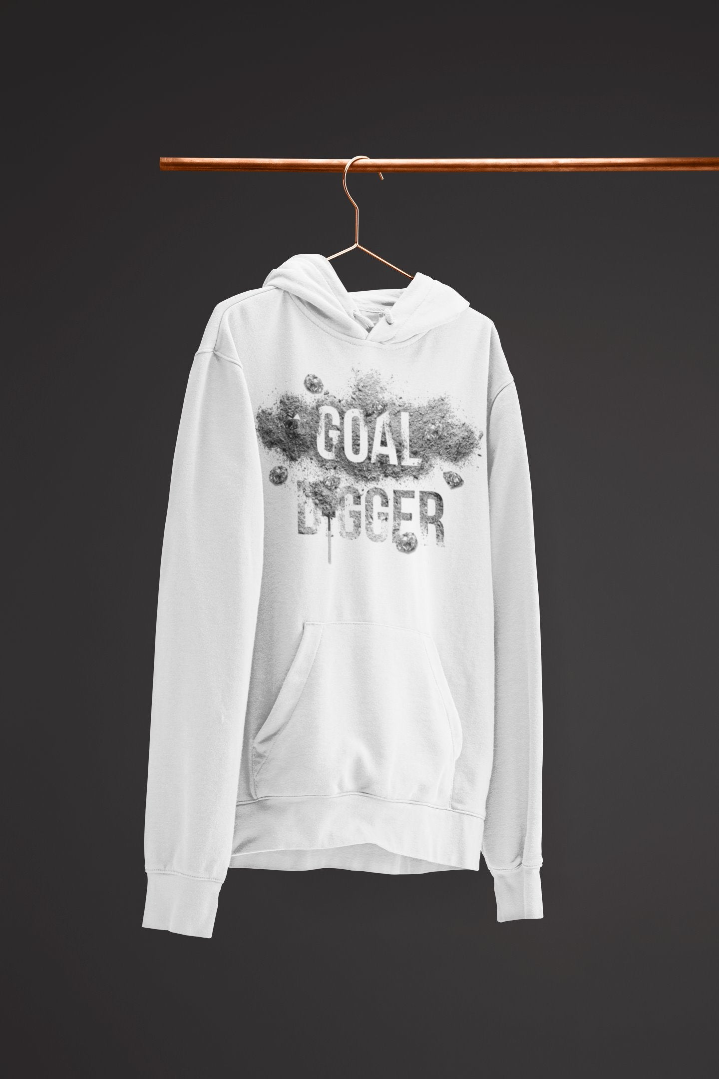 "Mens Hoodie ""GoalDigger"" WhiteS - Mperior: The Store For Entrepreneurs, Hustlers and Achievers"