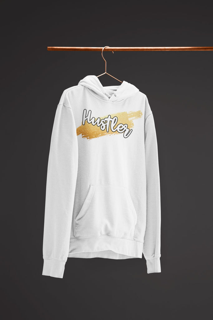 "Mens Hoodie ""HustlerX"" WhiteS - Mperior: The Store For Entrepreneurs, Hustlers and Achievers"