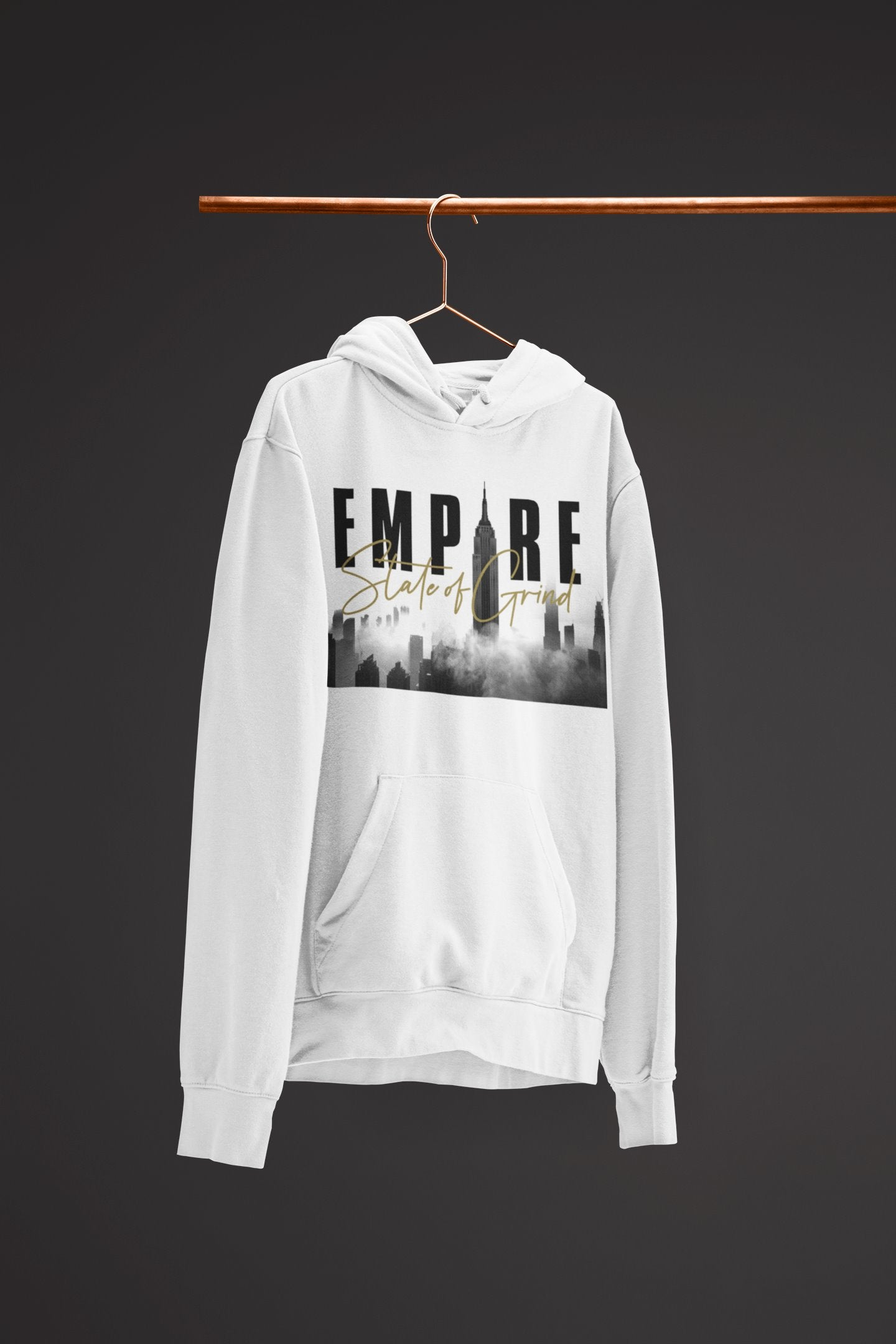 "Mens Hoodie ""Legacy"" WhiteS - Mperior: The Store For Entrepreneurs, Hustlers and Achievers"