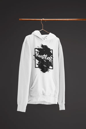 "Mens Hoodie ""The Hustler"" WhiteS - Mperior: The Store For Entrepreneurs, Hustlers and Achievers"