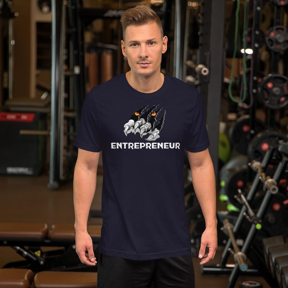 "Mens Roundneck T-Shirt ""Claws"" NavyXS - Mperior: The Store For Entrepreneurs, Hustlers and Achievers"
