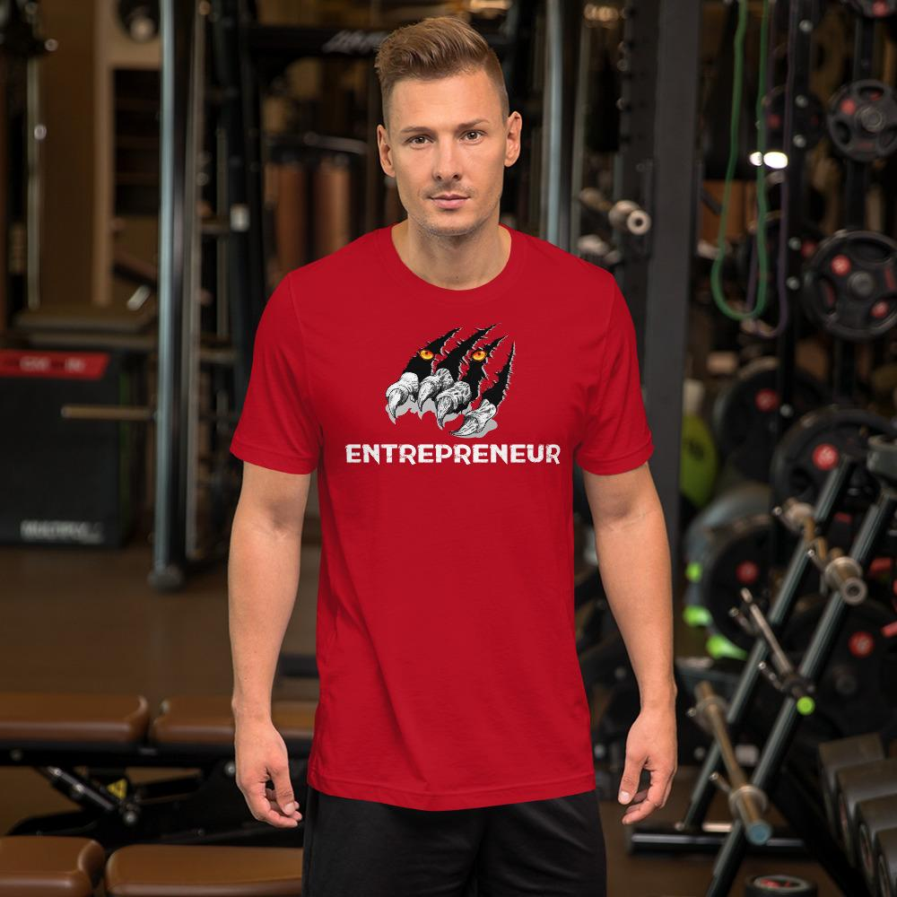 "Mens Roundneck T-Shirt ""Claws"" RedS - Mperior: The Store For Entrepreneurs, Hustlers and Achievers"