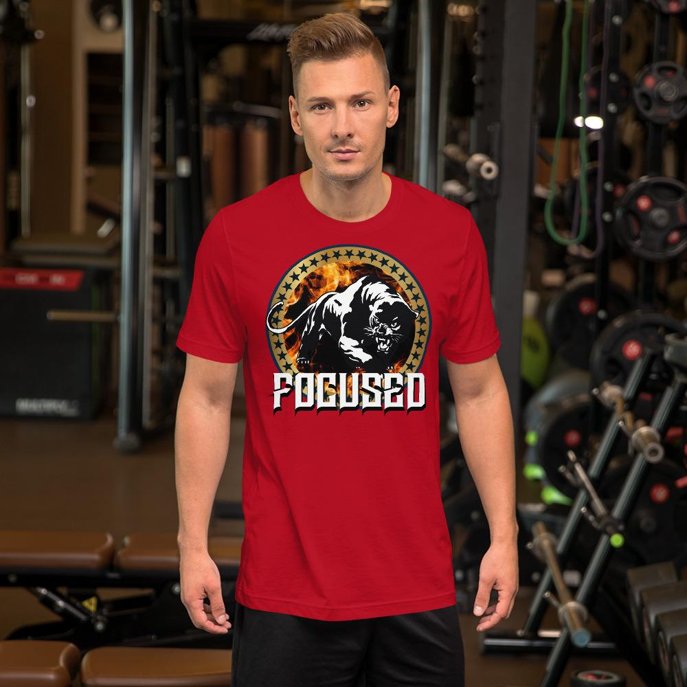 "Mens Roundneck T-Shirt ""Focused"" RedS - Mperior: The Store For Entrepreneurs, Hustlers and Achievers"