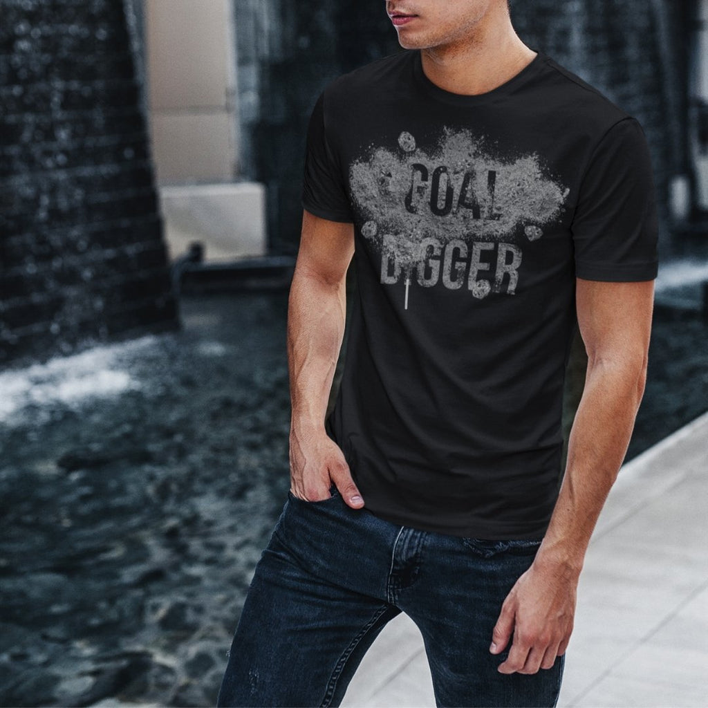 "Mens Roundneck T-Shirt ""GoalDigger"" BlackXS - Mperior: The Store For Entrepreneurs, Hustlers and Achievers"