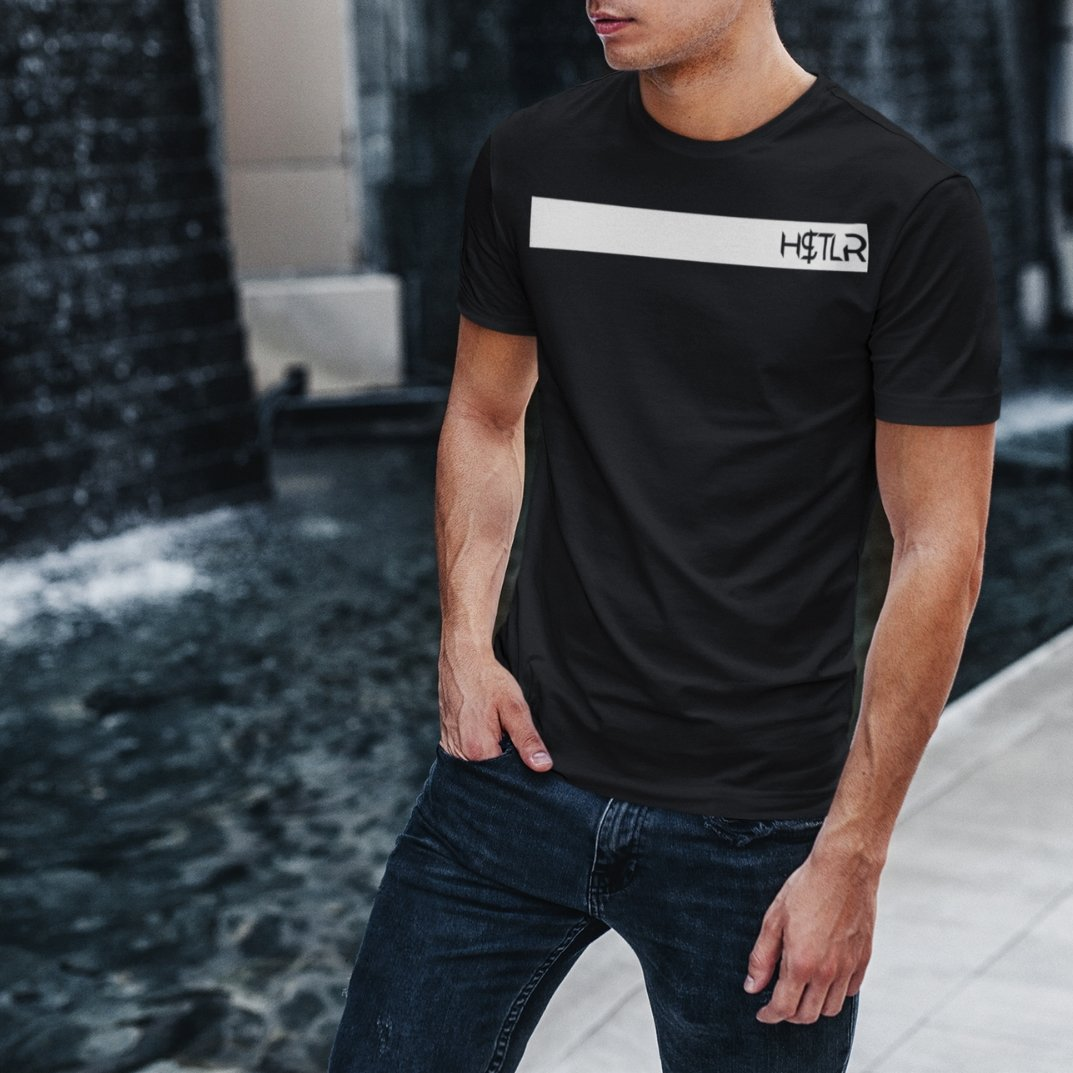 "Mens Roundneck T-Shirt ""H$TLR"" BlackXS - Mperior: The Store For Entrepreneurs, Hustlers and Achievers"