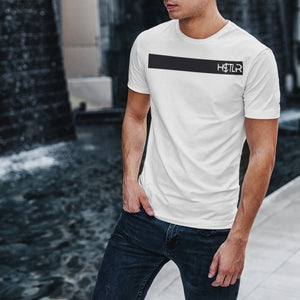 "Mens Roundneck T-Shirt ""H$TLR"" WhiteXS - Mperior: The Store For Entrepreneurs, Hustlers and Achievers"