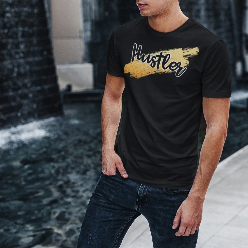 "Mens Roundneck T-Shirt ""HustlerX"" BlackXS - Mperior: The Store For Entrepreneurs, Hustlers and Achievers"
