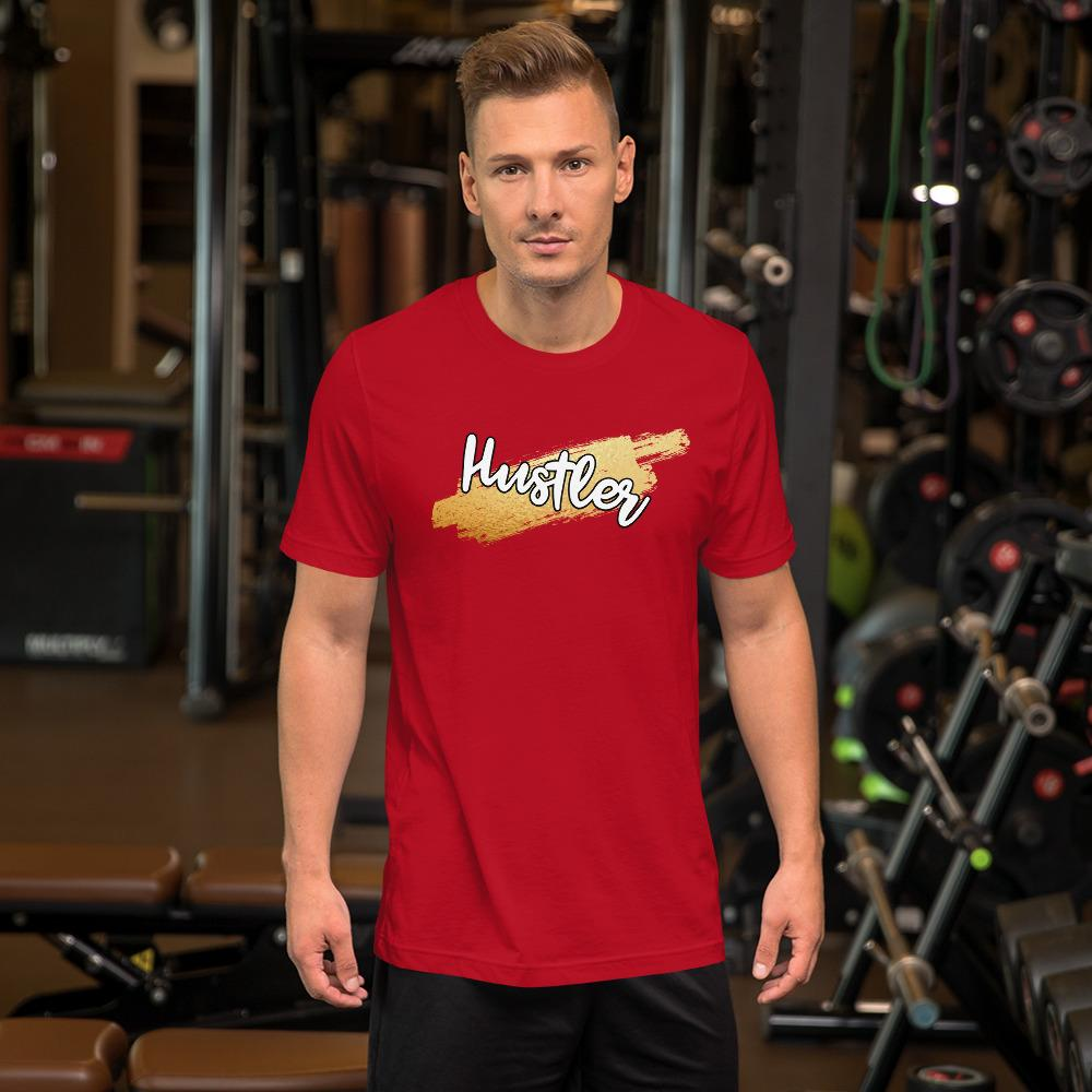 "Mens Roundneck T-Shirt ""HustlerX"" RedS - Mperior: The Store For Entrepreneurs, Hustlers and Achievers"