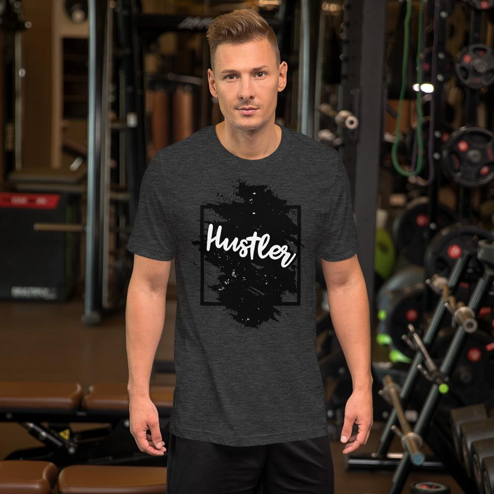"Mens Roundneck T-Shirt ""The Hustler"" Black Edition Dark Grey HeatherXS - Mperior: The Store For Entrepreneurs, Hustlers and Achievers"