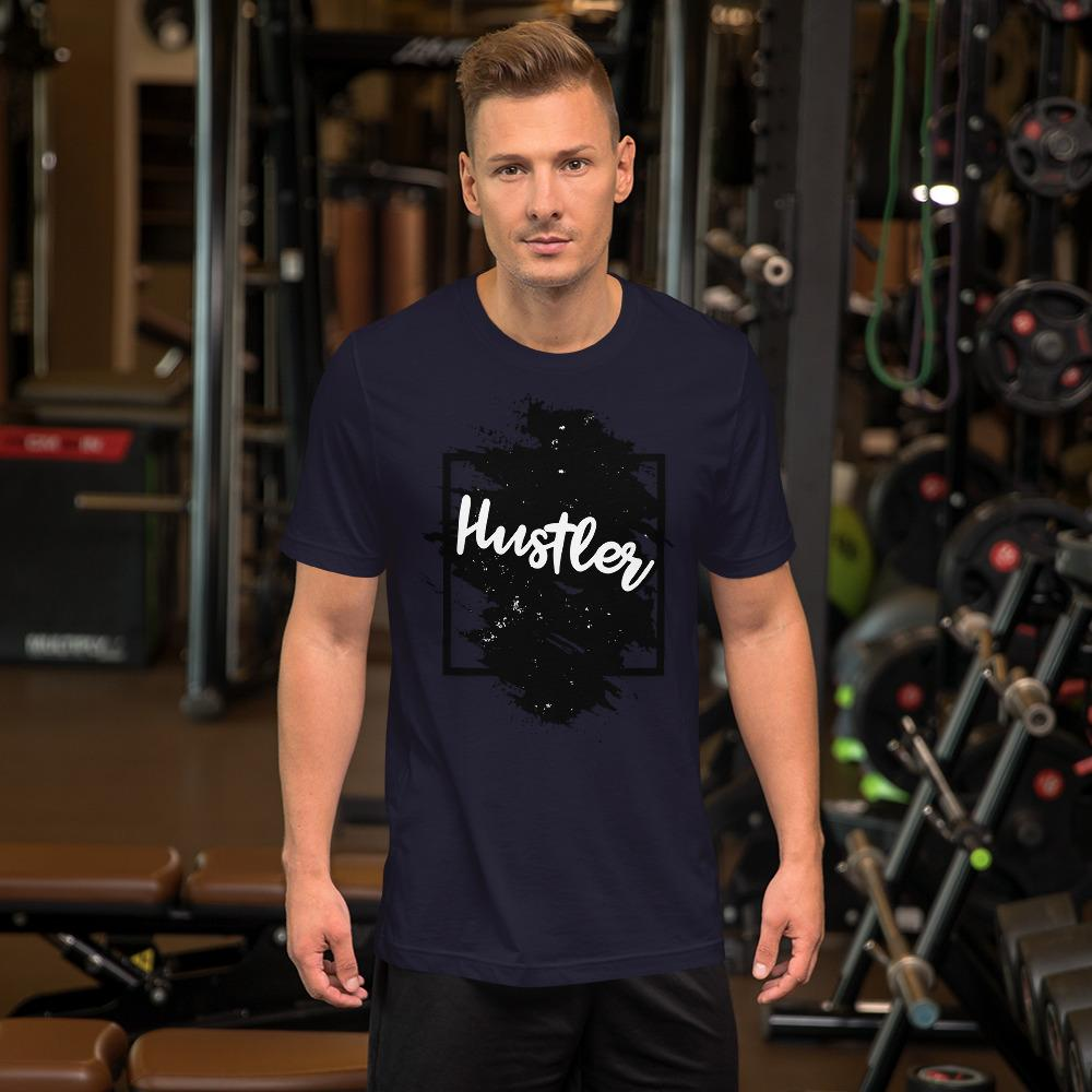 "Mens Roundneck T-Shirt ""The Hustler"" Black Edition NavyXS - Mperior: The Store For Entrepreneurs, Hustlers and Achievers"