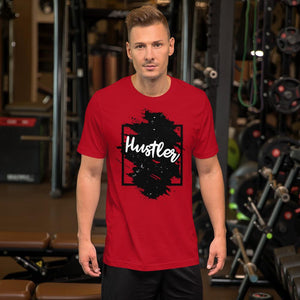 "Mens Roundneck T-Shirt ""The Hustler"" Black Edition RedS - Mperior: The Store For Entrepreneurs, Hustlers and Achievers"