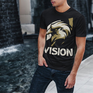 "Mens Roundneck T-Shirt ""Vision"" BlackXS - Mperior: The Store For Entrepreneurs, Hustlers and Achievers"