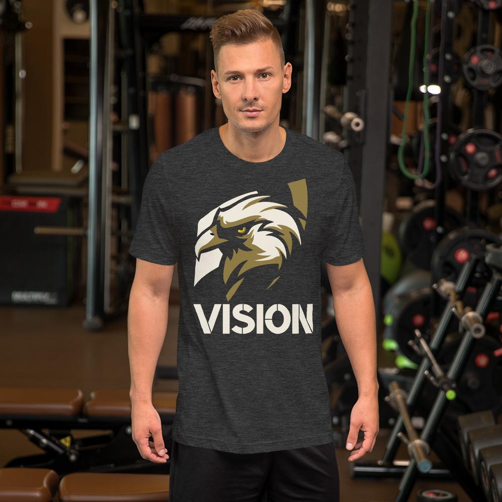 "Mens Roundneck T-Shirt ""Vision"" Dark Grey HeatherXS - Mperior: The Store For Entrepreneurs, Hustlers and Achievers"