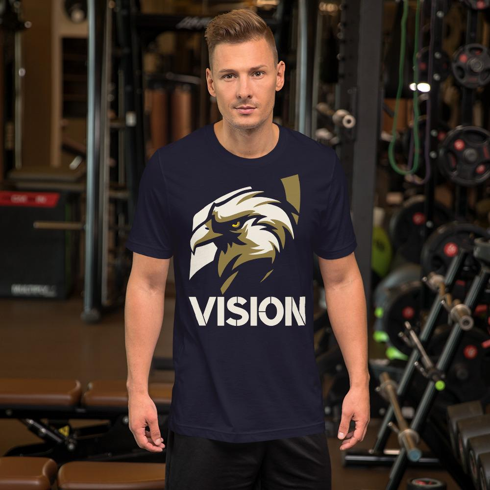 "Mens Roundneck T-Shirt ""Vision"" NavyXS - Mperior: The Store For Entrepreneurs, Hustlers and Achievers"