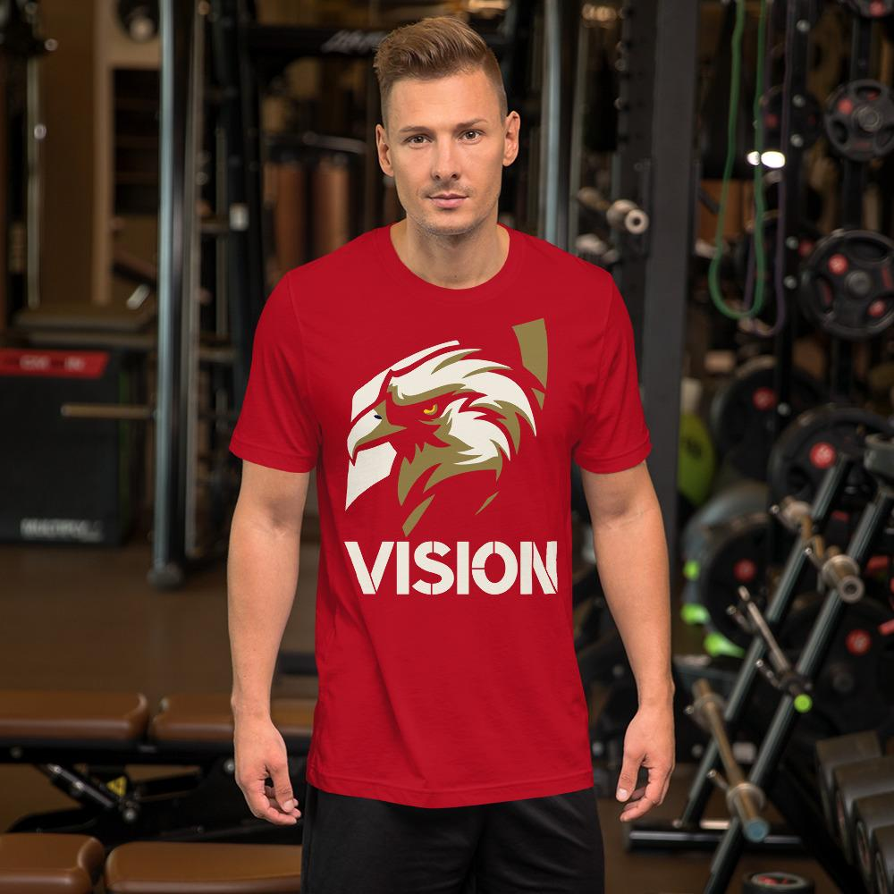 "Mens Roundneck T-Shirt ""Vision"" RedS - Mperior: The Store For Entrepreneurs, Hustlers and Achievers"