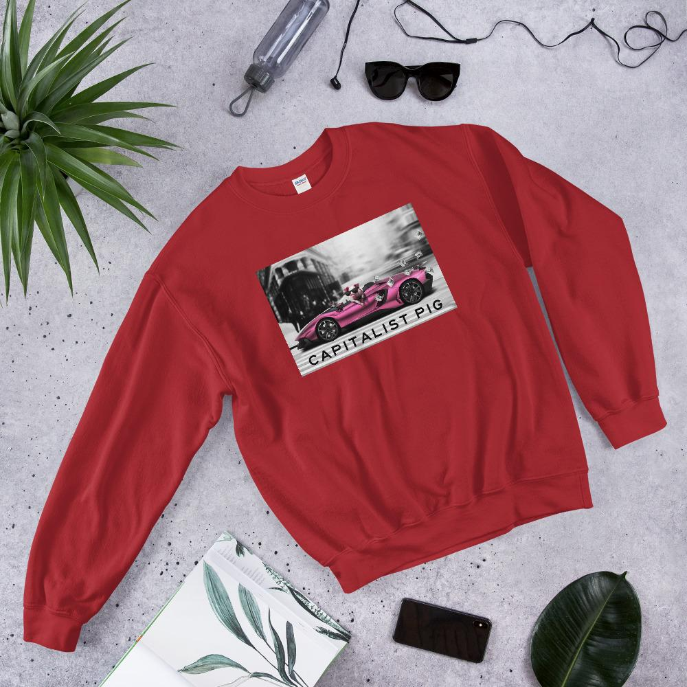 "Mens Sweatshirt ""Capitalist"" RedS - Mperior: The Store For Entrepreneurs, Hustlers and Achievers"