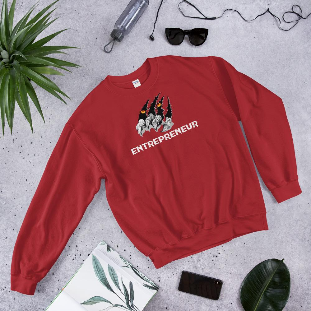 "Mens Sweatshirt ""Claws"" RedS - Mperior: The Store For Entrepreneurs, Hustlers and Achievers"