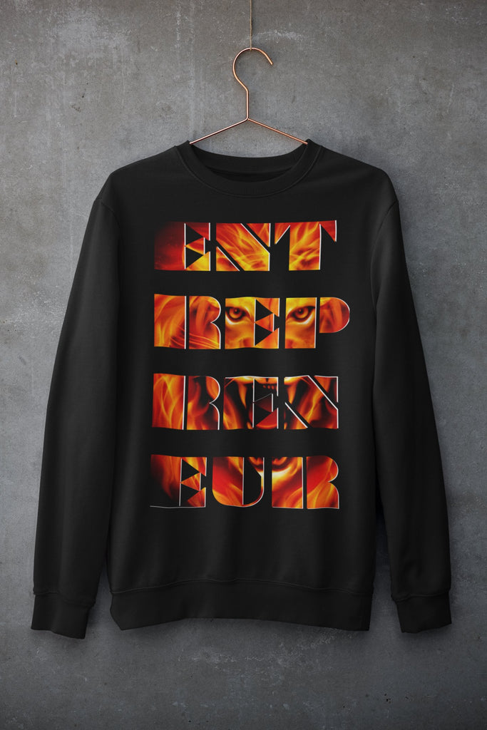 "Mens Sweatshirt ""Entrepreneur"" BlackS - Mperior: The Store For Entrepreneurs, Hustlers and Achievers"