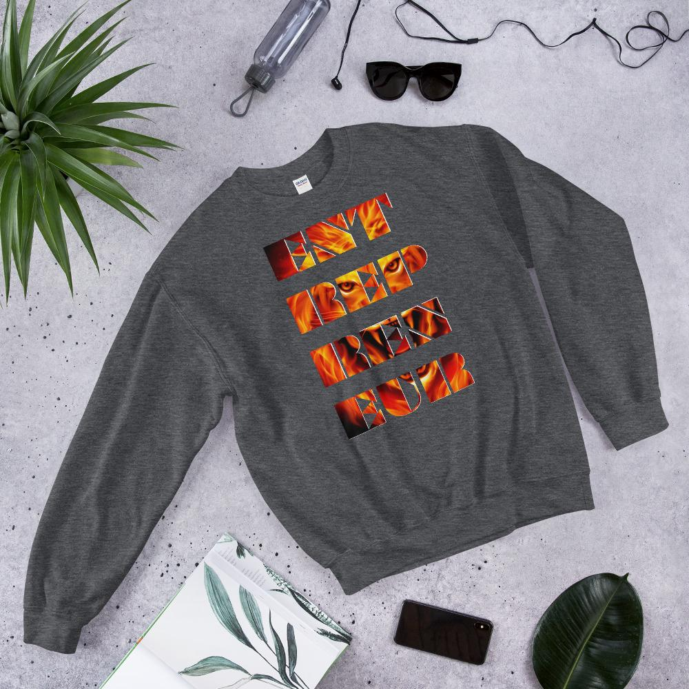 "Mens Sweatshirt ""Entrepreneur"" Dark HeatherS - Mperior: The Store For Entrepreneurs, Hustlers and Achievers"
