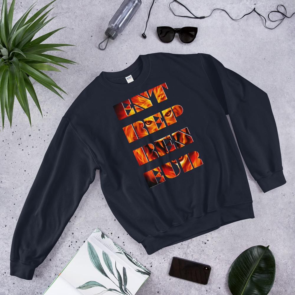 "Mens Sweatshirt ""Entrepreneur"" NavyS - Mperior: The Store For Entrepreneurs, Hustlers and Achievers"