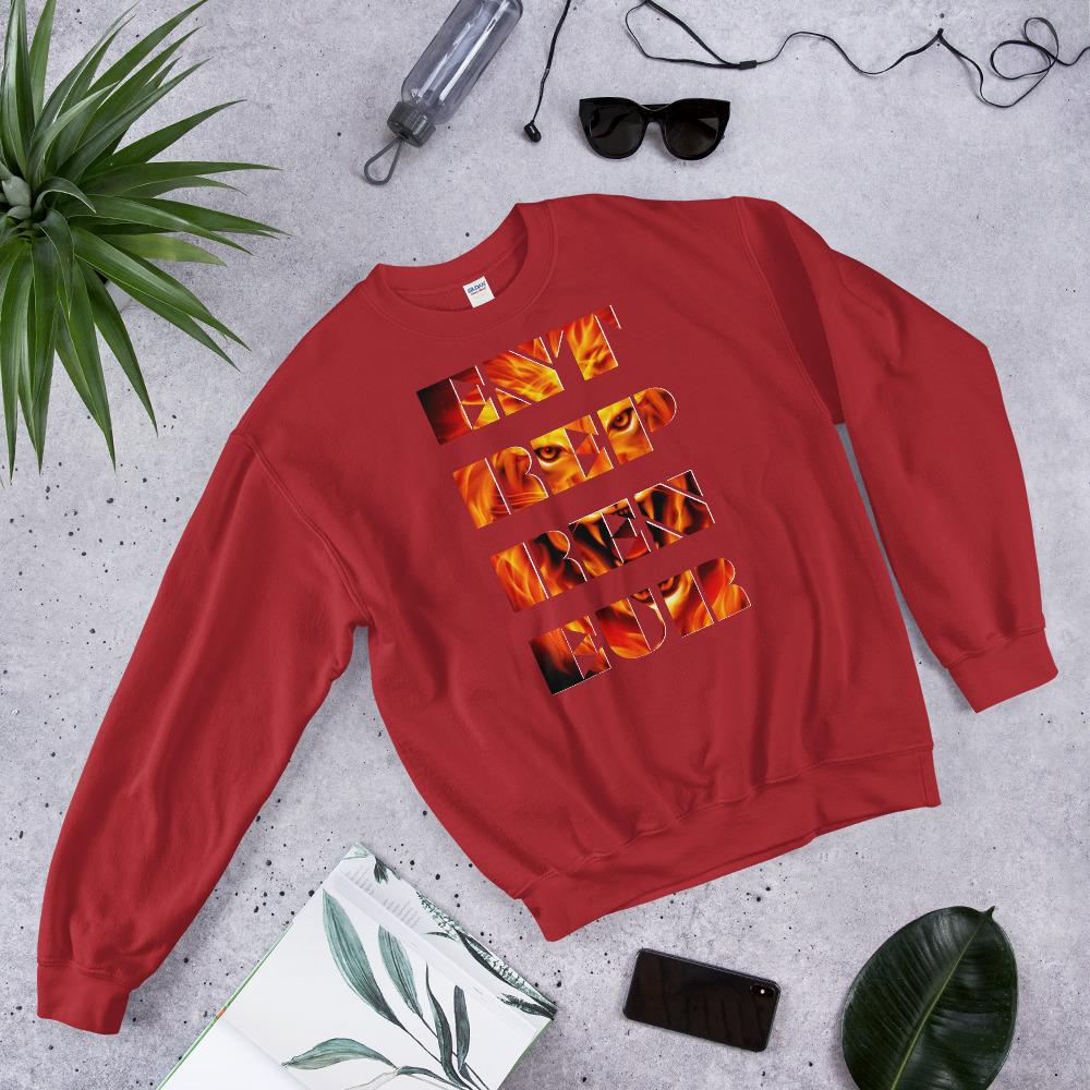 "Mens Sweatshirt ""Entrepreneur"" RedS - Mperior: The Store For Entrepreneurs, Hustlers and Achievers"