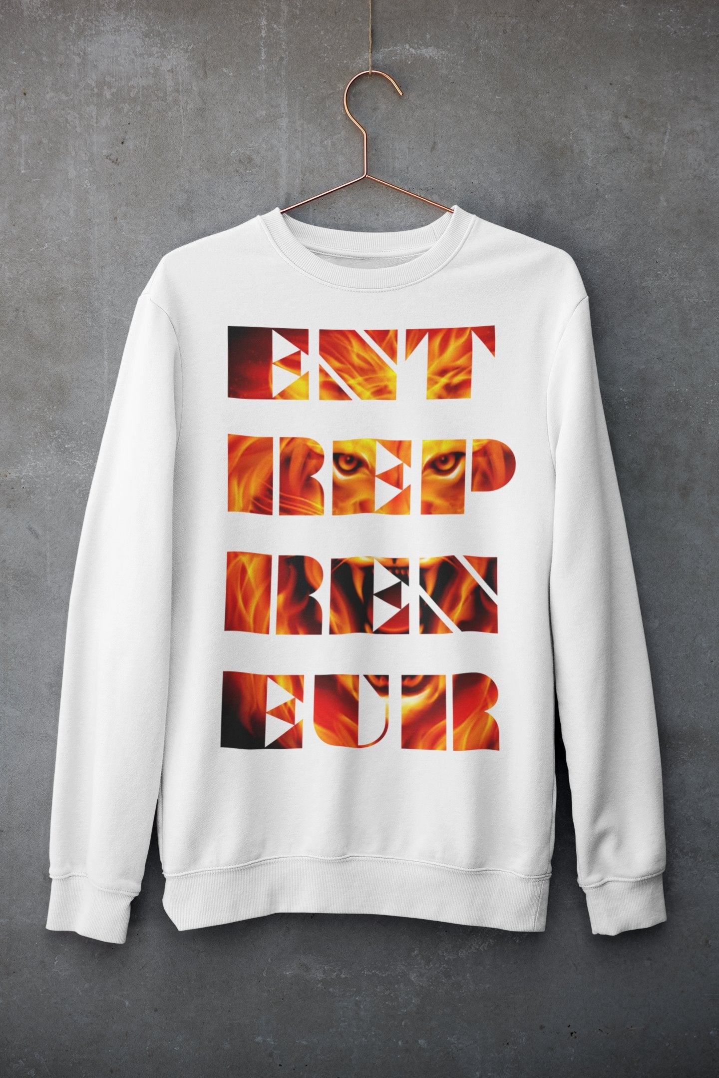 "Mens Sweatshirt ""Entrepreneur"" WhiteS - Mperior: The Store For Entrepreneurs, Hustlers and Achievers"
