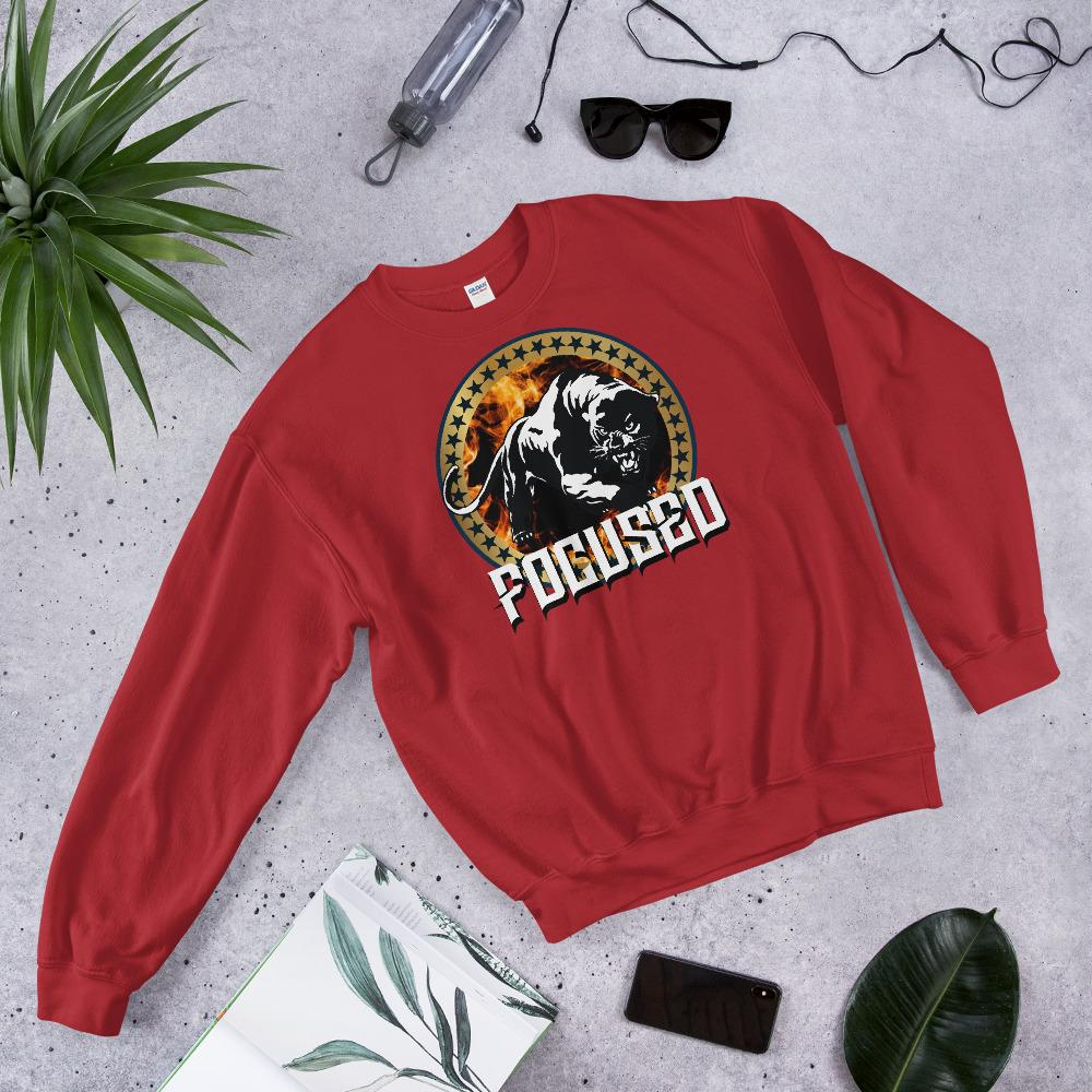 "Mens Sweatshirt ""Focused"" RedS - Mperior: The Store For Entrepreneurs, Hustlers and Achievers"
