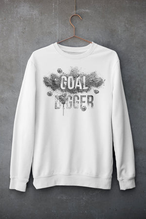 "Mens Sweatshirt ""GoalDigger"" WhiteS - Mperior: The Store For Entrepreneurs, Hustlers and Achievers"