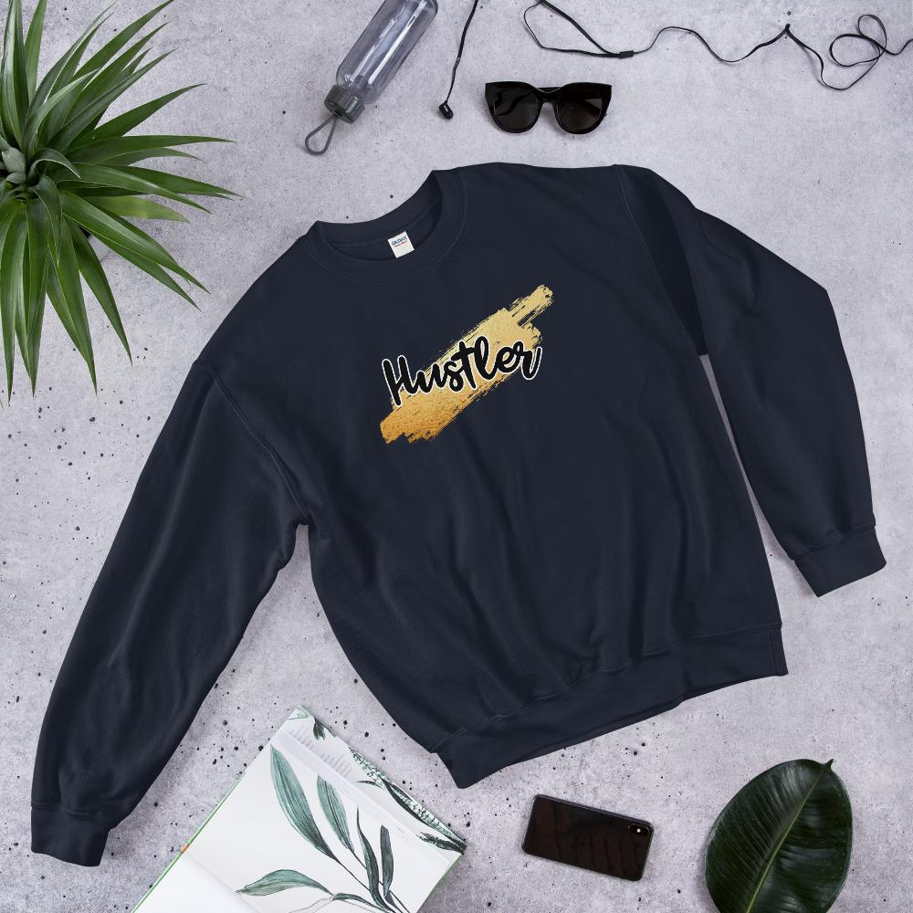 "Mens Sweatshirt ""HustlerX"" NavyS - Mperior: The Store For Entrepreneurs, Hustlers and Achievers"