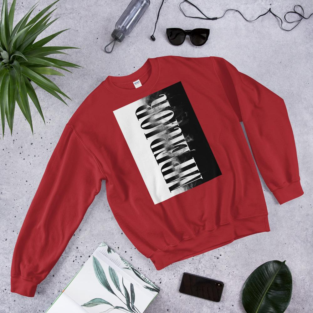 "Mens Sweatshirt ""Transformation"" RedS - Mperior: The Store For Entrepreneurs, Hustlers and Achievers"